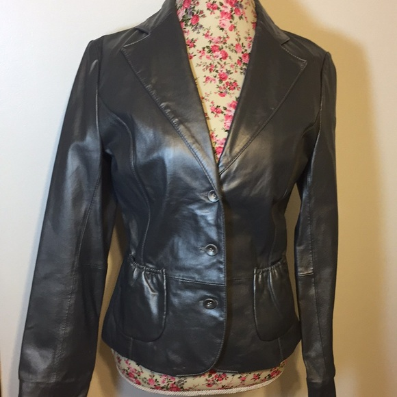 B Collection Jackets & Blazers - B Collection brand woman's M leather jacket NWT